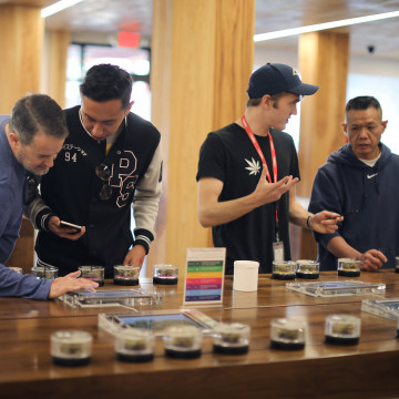 Image: Recreational marijuana is displayed for sale at the MedMen store in West Hollywood
