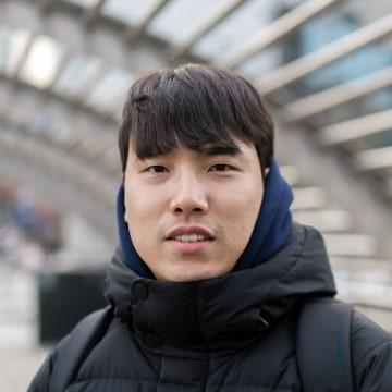 Image: Moon Ji Myung, 28, thinks President Trump is a greater wild card than North Korea's strongman Kim Jong Un.