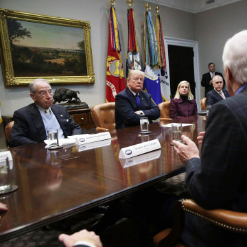 Image: President Trump meets with GOP senators in the White House