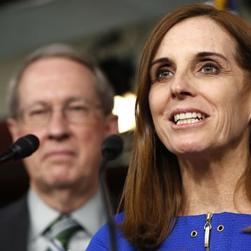 Image: House Homeland Security Border and Maritime Security Subcommittee Chairwoman Rep. Martha McSally (R-AZ) speaks during a news conference on Jan. 10, 2018.