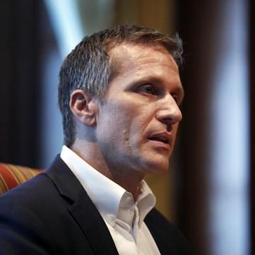 Image: Missouri Gov. Eric Greitens speaks during an interview