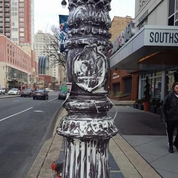 IMAGE: Greased pole in Philadelphia