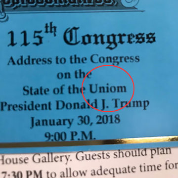 Image: State of the Union ticket