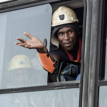 Image: SAFRICA-MINING-ACCIDENT