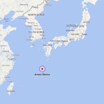 Image: Map showing Amami-Oshima