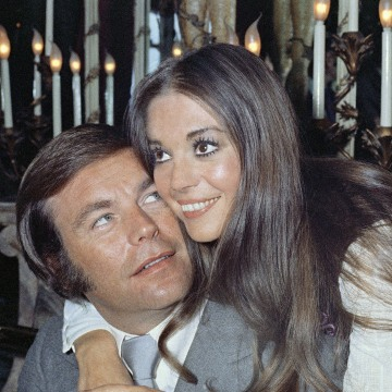 Image: Actor Robert Wagner and former wife Natalie Wood, on board the Queen Elizabeth II in April 1972.