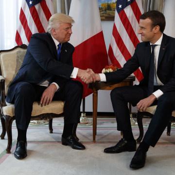 Image: Donald Trump, Emmanuel Macron