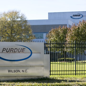 NC: A logo sign outside of a facility occupied by Purdue Pharma L.P., in Wilson, North Carolina on Nov. 27, 2015.