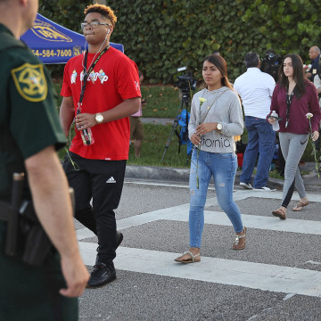 Image: Return to class at Marjory Stoneman Douglas High School
