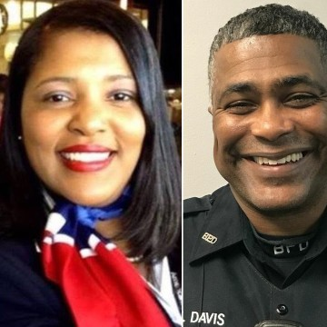 Image: Diva Jeneen Davis and James Davis Sr., parents of James Davis Jr.