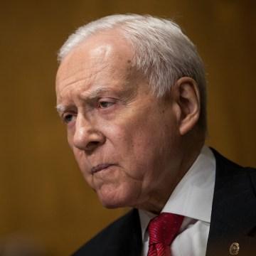 Image: Sen. Orrin Hatch, R-Utah, speaks during a Senate Finance Committee hearing