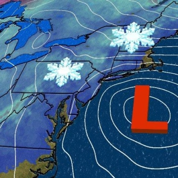Image: Winter Storm Quinn will impact the Northeast by midweek as a coastal storm.