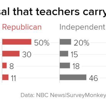 Poll: Majority of Americans don't like Trump's plan to arm teachers