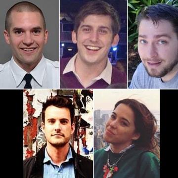 Image: From top left, Brian McDaniel, Trevor Cadigan, Daniel Thompson, Tristan Hill and Carla Vallejos Blanco.
