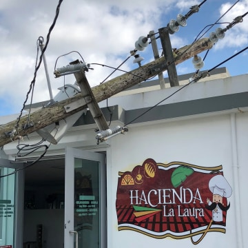 Image: Six months after Hurricane Maria, power lines still down in Yabucoa, Puerto Rico.