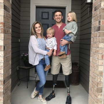 Image: Sgt. Josh Hargis with his family in Colorado Springs, Colorado