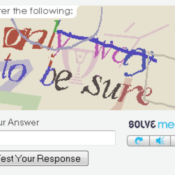 One of advertising company Solve Media's CAPTCHAs.