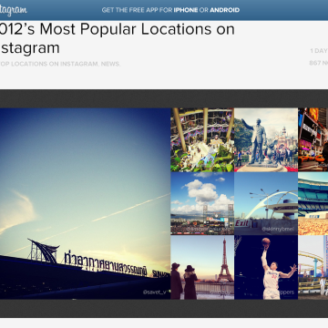 Image: Instagram's most photographed places of 2012