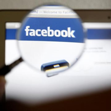Facebook snooping with magnifying glass