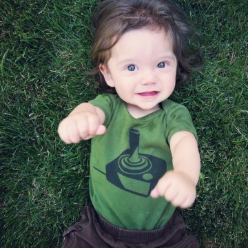 Joystick baby onesie