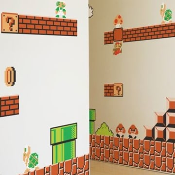 Super Mario Bros. wall decal