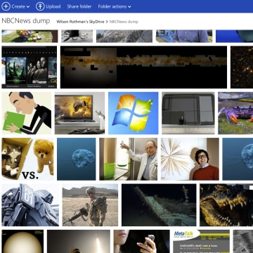 SkyDrive web interface