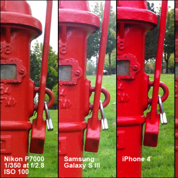 Comparison of iPhone 5 and others outside