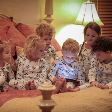 Kids wearing Smart PJs
