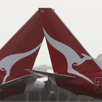 Two Qantas passenger jets