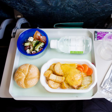 Mmmm ... airplane food ...