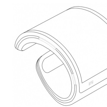 Another view of the flexible smartwatch.