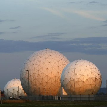 A general view of the large former monitoring base of the U.S. intelligence organization National Security Agency (NSA) is pictured during sunrise in ...