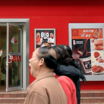 Fast food has found a welcome market abroad, as a growing middle class hungers for the greasy, quick fare.