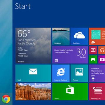 Windows 8.1 Desktop and Home screen