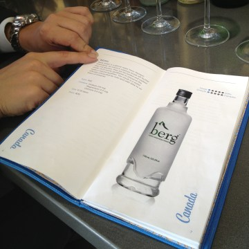 water menu