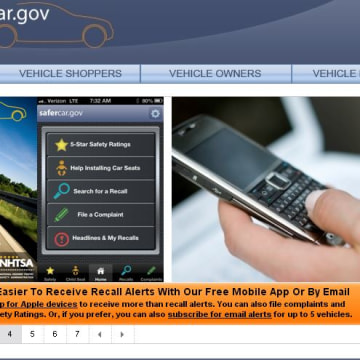 Safercar.gov screen grab
