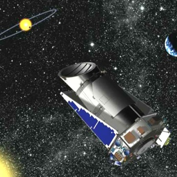 An artist's interpretation of the Kepler observatory in space. Credit: NASA