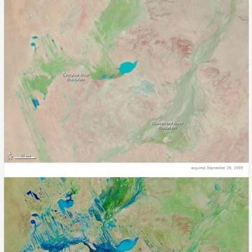 Maps of Australia show increased rainfall.