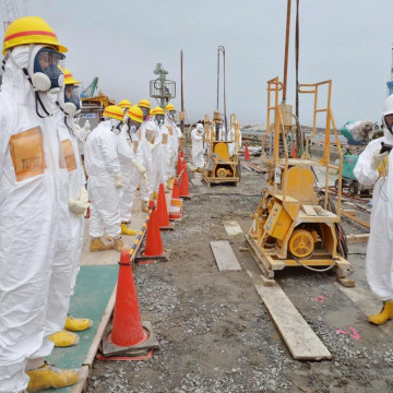 Image of members of a Fukushima prefecture panel