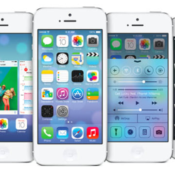 iOS 7 as shown on the iPhone.