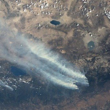 Image: View of fire from space