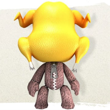 """""""LittleBigPlanet"""" is getting a new holiday-themed DLC pack complete with an awesome turkey head, pictured above."""