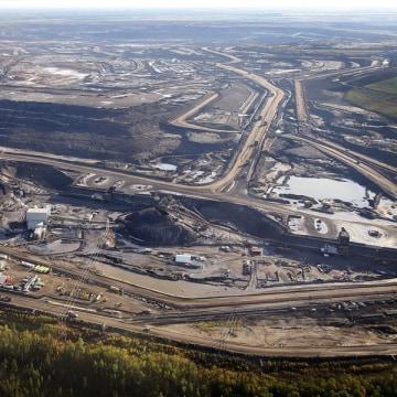 Aerial photo of Alberta tar sands
