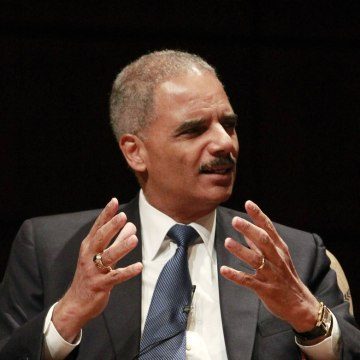 U.S. Attorney General Eric Holder talks to an audience at the Alys Stephens Center in Birmingham, Alabama, in this September 15, 2013 file photo. The ...