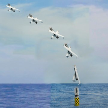 IMAGE: Time-lapse photo of launch of drone from submerged submarine