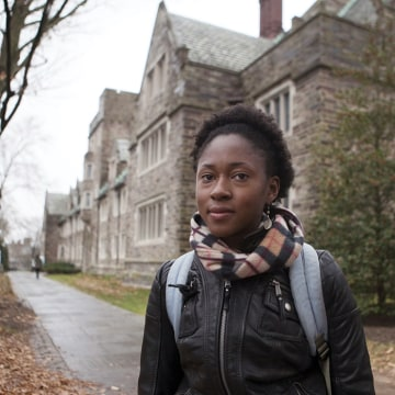 Lesa Redmond, 20, is one of perhaps 6,000 Princeton students and others who may seek a vaccination to halt a potentially deadly outbreak of meninigiti...