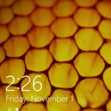 IMAGE: Windows 8.1 lock screen