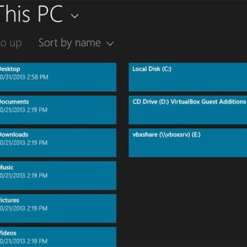IMAGE: Window's 8.1 Modern UI