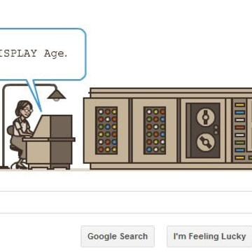 Google celebrates Grace Hopper as part of Computer Science Education Week.