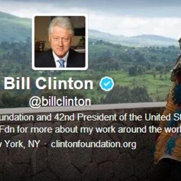 Bill Clinton's first tweet? A message to Stephen Colbert.